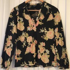 Lauren by Ralph Lauren floral long sleeve shirt